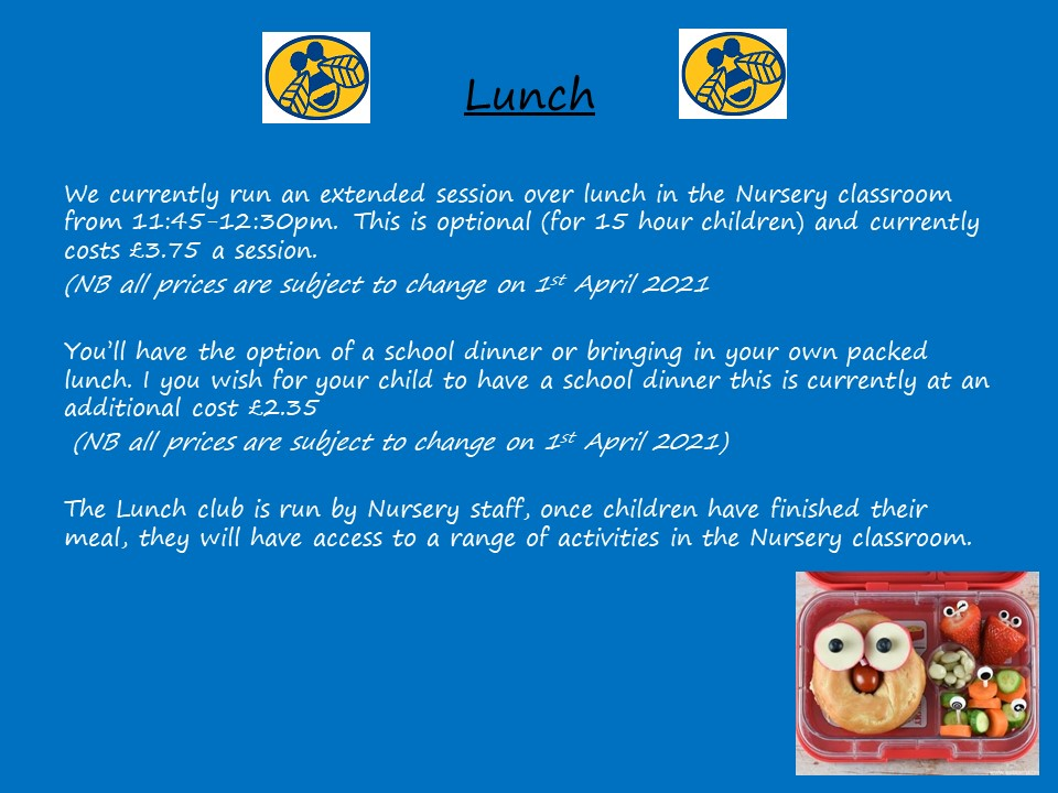 Slide 9 - Lunch